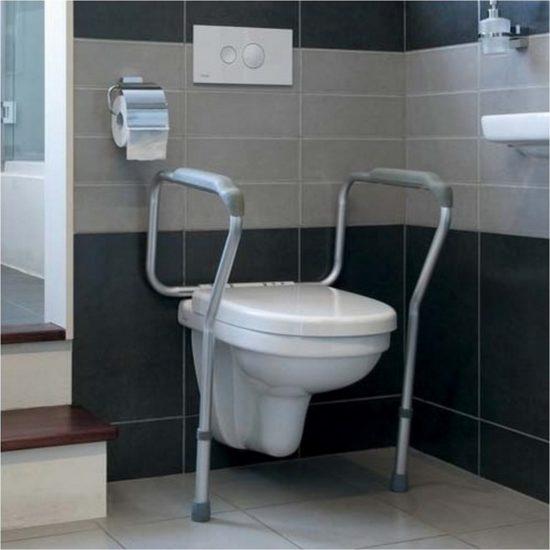 Cadre de toilettes sécurisé